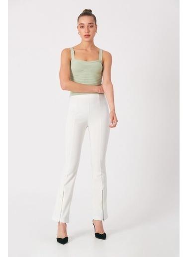 Robin Çizgi Desenli Askılı Body Mint Yeşil